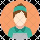Female Staff Worker Icon
