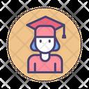 Female Student Student Graduate Student Icon