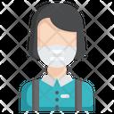 Female Student Medical Mask Medical Icon
