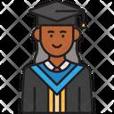 Female Student Graduate Icon