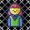 Female Student School Uniform Icon