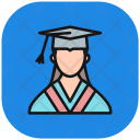 Female Student Technology Icon