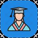 Female Student Technology Icon