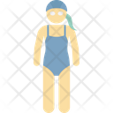 Female Swimming Kids Swimmer Swim Icon