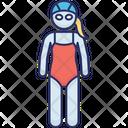 Female Swimming Kids Swimmer Swim Icon