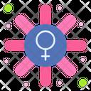 Female Symbol Sign Stamp Icon
