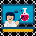Female Teacher Chemistry Teacher Study Icon