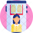 Education Smartphone Online Learning Icon