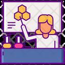 Female Teacher In Laboratory Icon