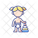 Baby Toddler Female Icon