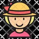 Female Traveller Tourist Girl Icon
