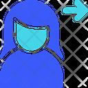 Female User Send Icon