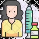 Female Vaccination Icon