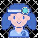 Female Vet Female Doctor Animal Doctor Icon