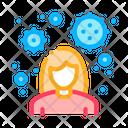 Female Virus Icon