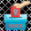 Female Vote Icon