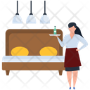 Female Waiter Icon