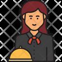 Female Waiter Waiter Woman Icon