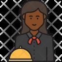 Female Waiter Icon