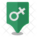 Female Woman Location Icon