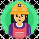 Kid Labour Child Labour Female Young Labour Icon