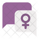 Feminism Conversation Icon