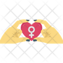 Day Feminism Hands Icon