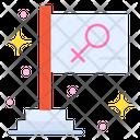 Feminism Flag Feminism Flag Icon