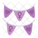 Feminism Garlands Icon