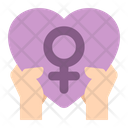 Feminism Women Heart Icon