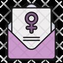 Feminism Letter Icon