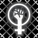 Feminism Fist Protest Icon