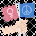 Feminist Peace Flag Icon