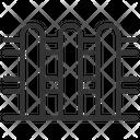 Fence Partition Garden Border Icon