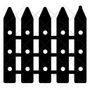Boundary Fence Safety Icon