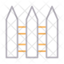 Fence Boundary Protection Icon