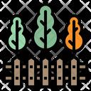 Fence Backyard Furniture Icon