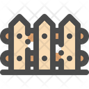 Fence Wood Wooden Icon