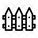 Fence Wooden Defense Icon