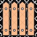 Fence Boundary Wood Icon