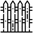 Fence Fence Bar Protection Icon