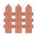 Fence Boundary Safety Icon