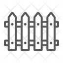 Wooden Wall Picket Icon