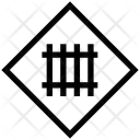 Fence Road Sign Icon