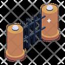 Picket Fence Pillar Fence Garden Fence Icon