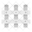 Fence Buildings Protection Icon