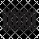 Farm Fence Safety Icon