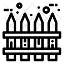 Fence Realty Wood Icon