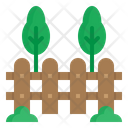 Fence Farm Tree Icon