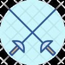 Fencing Cross Swords Icon